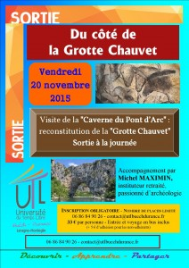 Sortie UTL Caverne Pont d'Arc 20-11-2015