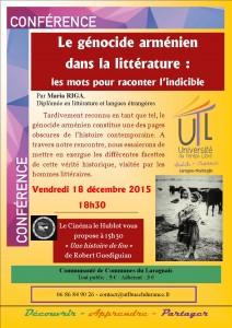 2015-12-18 Génocide arménien et littérature