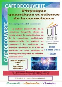 2016-03-14 Physique quantique et science de la conscience