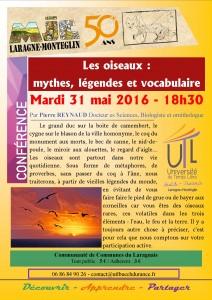 2016-05-31 Les oiseaux, mythes légendes et vocabulaire
